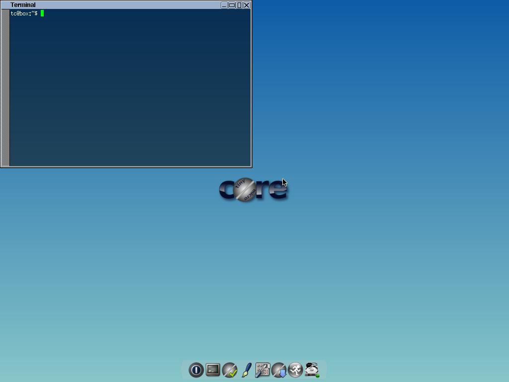 """Topside"" flwm desktop with terminal window"